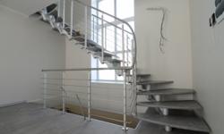Модульная лестница, ступени с декоративным покрытием