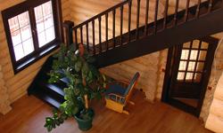 Маршевая лестница в загородном доме, д. Минино